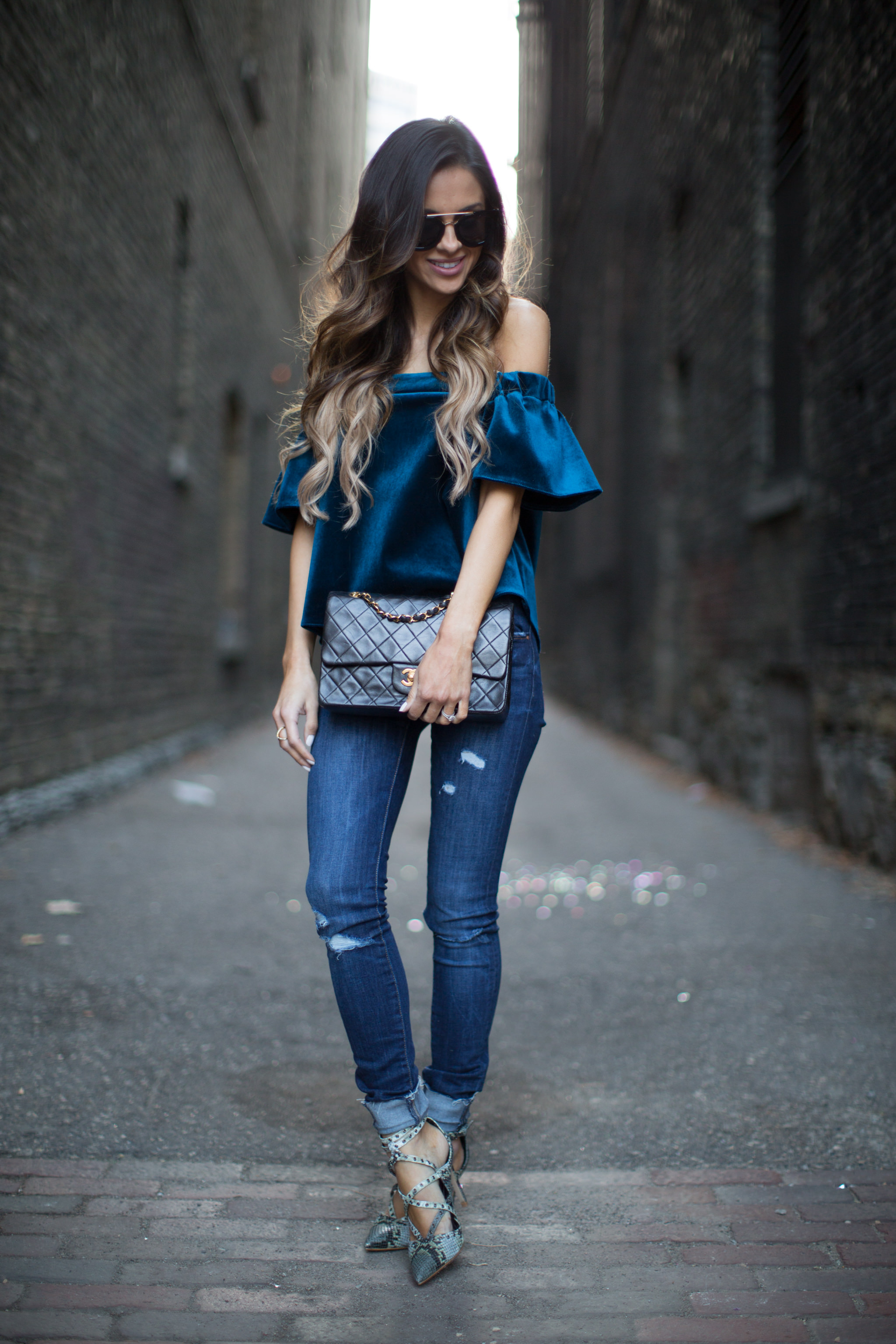 street style velvet